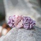 Handmade Satin Pink Flower Hair Clip Barrette Floral Hair Hair Tie Medium size for girls