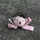 Handmade Pink Teddy Bear Hair Cute Classic Simple Headpiece ponytail holder Tie for girls for Kids