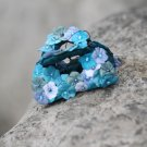 Small Blue Nature Handmade Flower Hair Clip Crystal Hair Claw Floral  Blossom FlowerJaw Clip