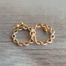 Gold Twisted Hoop Earrings  Boho Earrings Circle 14K Gold Plated Earrings Dainty Modern Earrings
