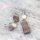 Handmade Natural Wood Earrings Chic Geometric Earrings Nature Earrings Modern Earrings Cute Earrings
