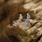 Dainty Flying Butterfly Ear Jacket Sterling Silver Delicate Animal Minimalist Earrings Ear Wrappers