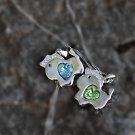 Sapphire Blue Crystal Horse Animal Pendant Swarovski Element Sky Blue Emerald Green Silver Pendant