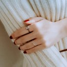 Simple Geometric Ring Adjustable Sterling Silver Ring Dainty Minimal Minimalist Ring