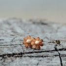 Daisy Flower Earrings Studs Rose Gold Flower Minimalist Earrings Golden Floral Earrings