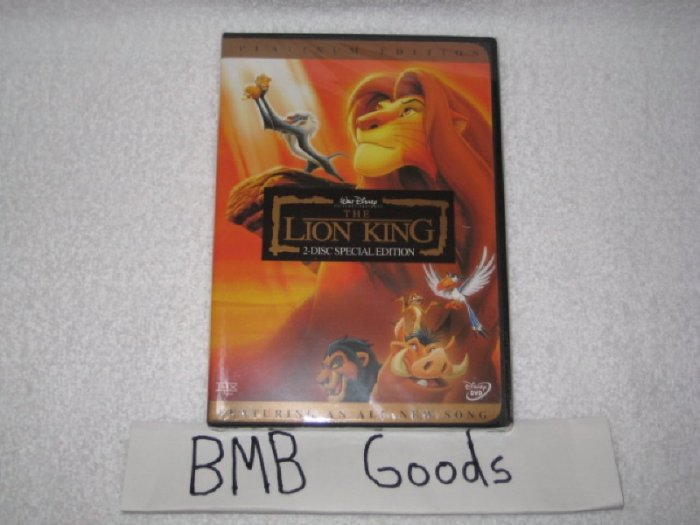 The Lion King Platinum Edition DVD