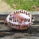 'Will you marry me?' Engraved On A Tiger Cowrie Seashell. Personalize by adding a name