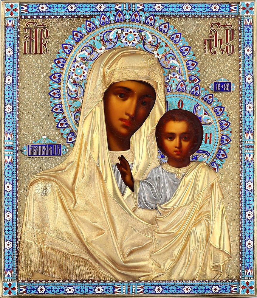 Decor Art. Icon The Holy Virgin of Kazan