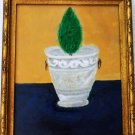 Lonely Cypress by Klaron  Signed in Verso