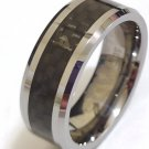 Tungsten Carbon Fiber Wedding band (ring), size 21