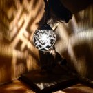 Stylish  Hand Crafted Lamp Made With Coconut Shell and Wood