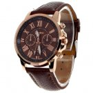 Unisex Casual Quartz Watch - Brown