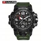 PANARS - Men Outdoor Sport Waterproof Digital Watch - Green