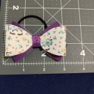 Unicorn Print Hair Bow Pony Tail