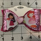 Disney Print Faux Leather Hair Bow