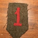 """WWI US Army 1st Division patch AEF wool """"Big Red One"""":"""