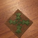 "WWI US Army 4th Division Patch Wool ""Ivy"""