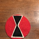 """WWI US Army 7th Division Patch Wool """"Hour glass"""""""