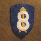 """WWI US Army 8th Division Patch Wool """"Pathfinder"""""""