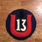 WWI US Army 13th Division Patch Wool