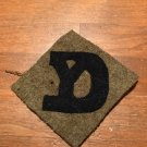 """WWI US Army 26th Division Patch Wool """"YD"""""""