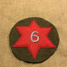 """WWI US Army 6th Division Patch Wool """"Sight seeing"""" AEF"""