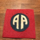WWI US Army 82nd Division Patch Wool