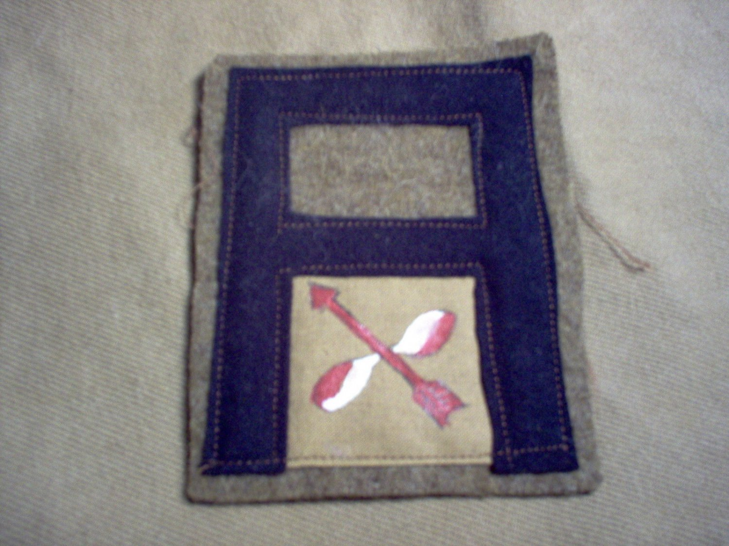 WWI US Army First Army Anti Aircraft patch wool