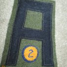 WWI US Army First Army 2nd Chemical patch wool