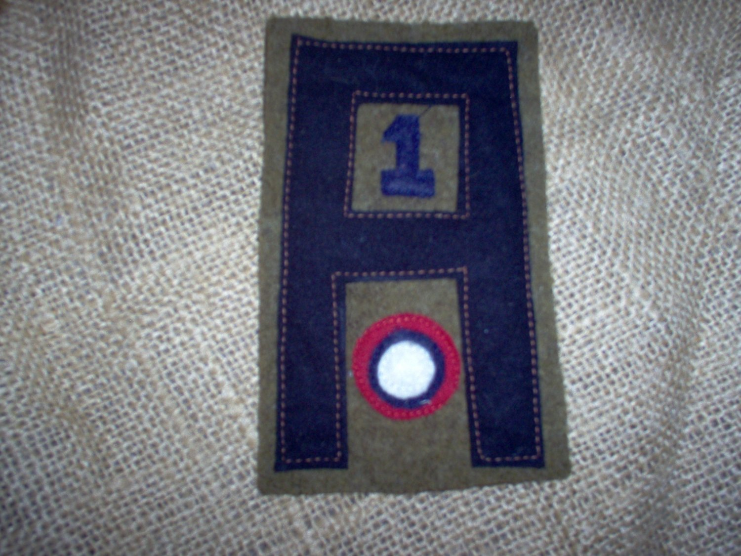 WWI US Army Air Service First Army,1st Aero Squadron patch wool