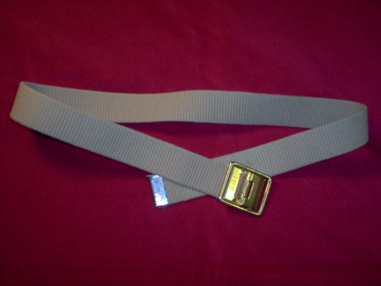 USMC US Marine Corps Khaki web belt with Brass frame buckle
