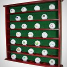 Golf Ball Display Cabinet Mahogany Wall Mounted Hold 49 Golf Balls Home & Office