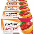 Trident Layers Strawberry + Citrus Sugar Free Gum - 12 S (168 Pieces Total)
