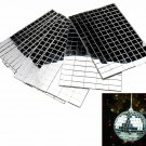 Self-Adhesive Real Glass Craft Mini Square & Round Mirrors Mosaic Tiles New