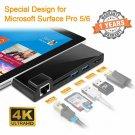 Rocketek Microsoft Surface Pro 5 Pro 6 Usb 3.0 Hub, Build-In Tf  Sd Card Reader