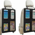Kick Mat Auto Seat Back Protectors + 4  Organizer Pockets, Waterproof Seat Cover