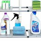 Simplehouseware Under Sink 2 Tier Expandable Shelf Organizer Rack, Silver (Expan