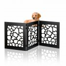 Kleeger Freestanding Folding Indoor Safety Wooden Pet Gate For Home Or Office [
