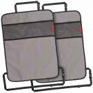 Heavy Duty Kick Mats Back Seat Protector (2 ) - The Sag Proof, Waterproof, Odor