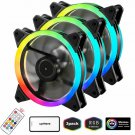 Uphere 3- Wireless Rgb Led 120Mm Case Fan,Quiet Edition High Airflow Adjustable