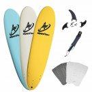 A Alpenflow 8' Foam Surfboards 8Ft Soft Foamie Summer Surf Boards Surfing High P