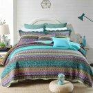 Newlake Striped Jacquard Style Cotton 3-Piece Patchwork Bedspread Quilt Sets, Qu