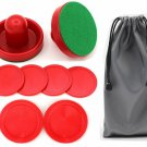 Qtimal Home Standard Air Hockey Paddles And 2 Size Pucks,  Size For Kids,  Size