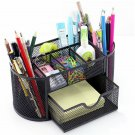 Monbla Desk Supplies Organizer Multi-Functional Stationery Caddy Mesh Oval Penci
