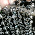 Xgpie 16.4Ft Clear Crystal Glass Beads Lamp Chain Chandelier Decoration For Wedd