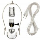 Creative Hobbies Ml93H Silver Finish Make-A-Lamp Kit With All Parts Needed And I