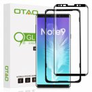 Otao Note 9 Screen Protector Tempe Glass, 3D Curved Dot Matrix [Full Screen Cove