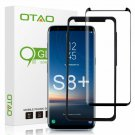 Galaxy S8 Plus Screen Protector Tempe Glass, Otao 3D Curved Dot Matrix [Case Fri
