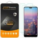 [2-] Supershieldz For Huawei P20 Tempe Glass Screen Protector, Anti-Scratch, Bub