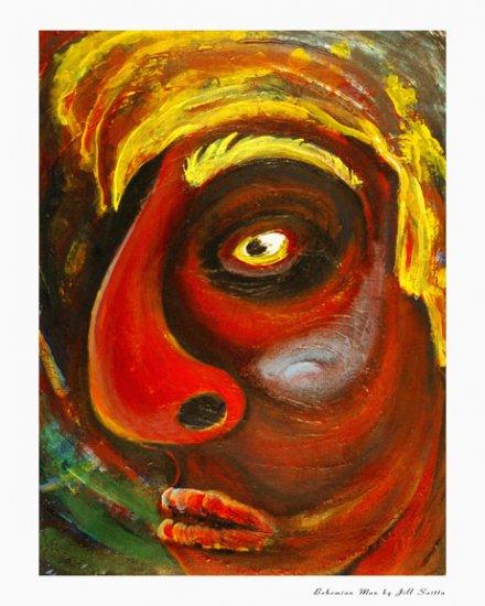 Bohemian Man, Reproduction, Jill Saitta, 8x10